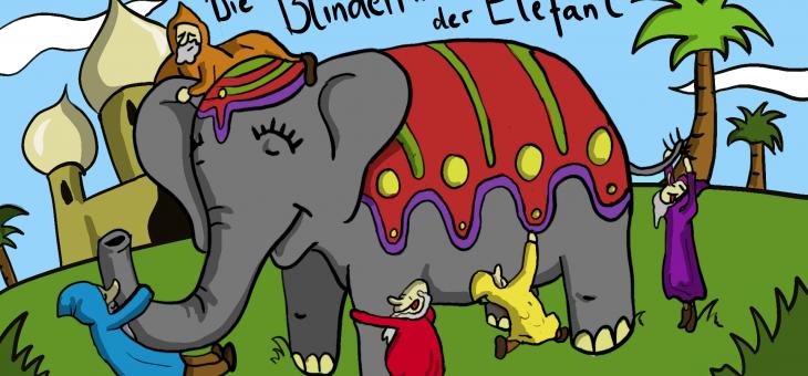 Die Blinden und der Elefant (Indien)